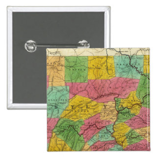 Map of Pennsylvania, New Jersey, and Delaware 15 Cm Square Badge