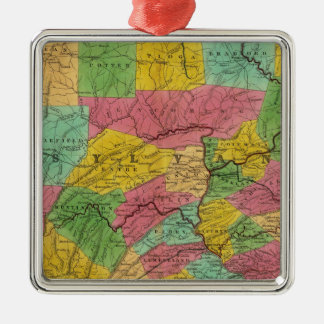 Map of Pennsylvania, New Jersey, and Delaware Christmas Ornament