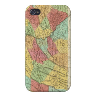 Map Of Pennsylvania New Jersey And Delaware iPhone 4 Cases