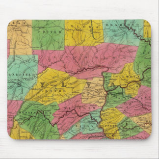 Map of Pennsylvania, New Jersey, and Delaware Mouse Mat