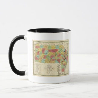 Map Of Pennsylvania New Jersey And Delaware Mug