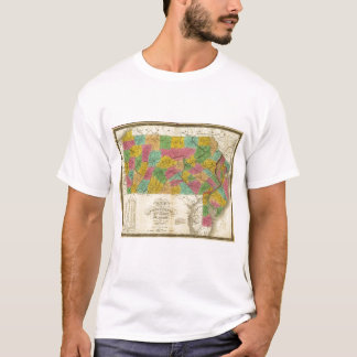Map of Pennsylvania, New Jersey, and Delaware T-Shirt