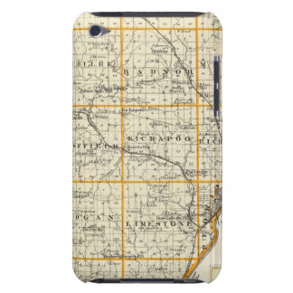Map of Peoria County and Minonk iPod Touch Cover