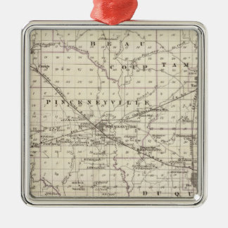 Map of Perry County, Nashville and Carmi Christmas Ornament