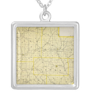 Map of Perry County Silver Plated Necklace