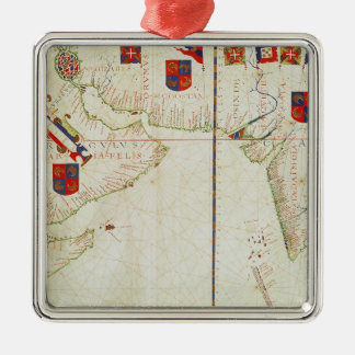 Map of Persia, Arabia and India Christmas Ornament