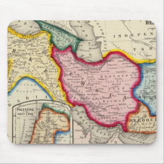 Map of Persia, Turkey In Asia Afghanistan Mouse Mat