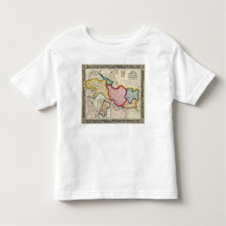 Map of Persia, Turkey In Asia Afghanistan Toddler T-Shirt