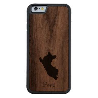 Map of Peru: Classic Design Carved Walnut iPhone 6 Bumper Case