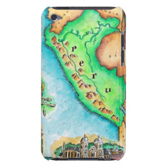 Map of Peru iPod Case-Mate Case
