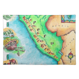 Map of Peru Placemat