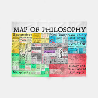 Map of Philosophy Small Fleece Blanket