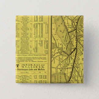 Map of Pittsburgh and Western Railway 15 Cm Square Badge