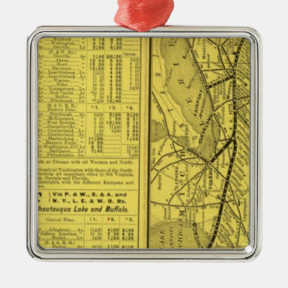 Map of Pittsburgh and Western Railway Christmas Ornament