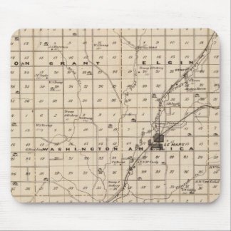 Map of Plymouth County Mouse Pad