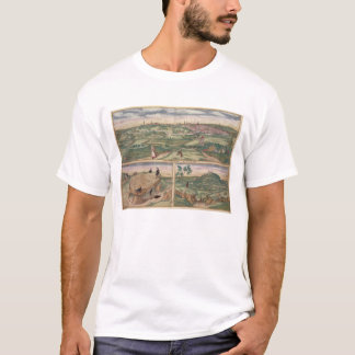 Map of Poitiers, from 'Civitates Orbis Terrarum' b T-Shirt