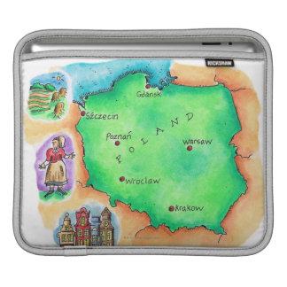 Map of Poland iPad Sleeve