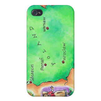 Map of Poland iPhone 4 Cover