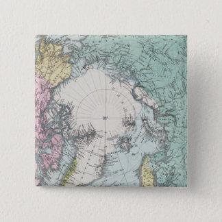 Map of Polar Seas 15 Cm Square Badge