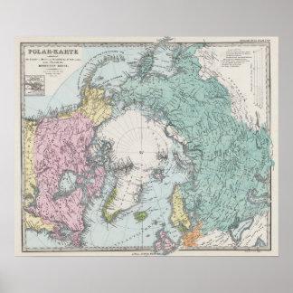 Map of Polar Seas Poster