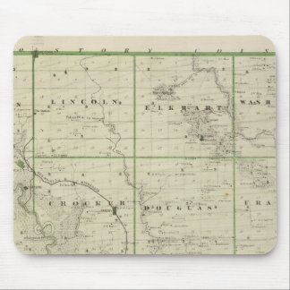 Map of Polk County, State of Iowa Mouse Mat