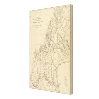 Map of portions of Utah Canvas Print