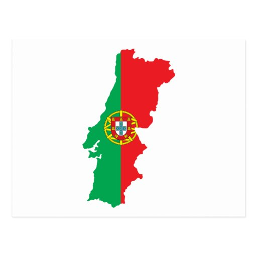 Map Of Portugal Postcard