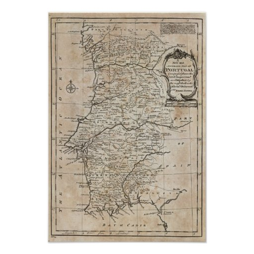 Map of Portugal Poster