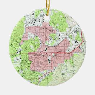 Map of Prescott Arizona (1973) Christmas Ornament