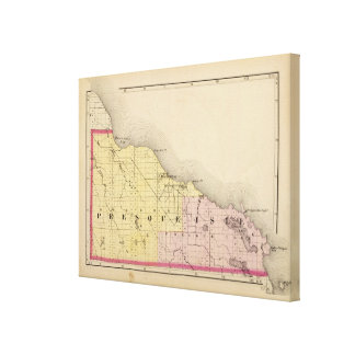 Map of Presque Isle County, Michigan Canvas Print