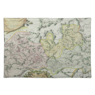 Map of Provinces in China Place Mats
