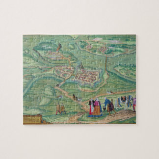 Map of Raab, from 'Civitates Orbis Terrarum' by Ge Jigsaw Puzzle
