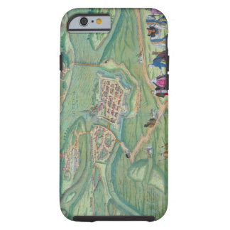 Map of Raab, from 'Civitates Orbis Terrarum' by Ge Tough iPhone 6 Case