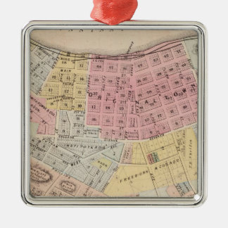 Map of Red Wing, Goodhue County, Minnesota Christmas Ornament