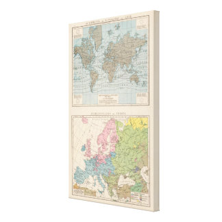 Map of Religions in Europe Canvas Print