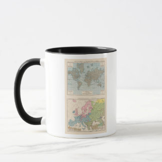 Map of Religions in Europe Mug