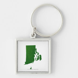 Map of Rhode Island 2 Key Ring