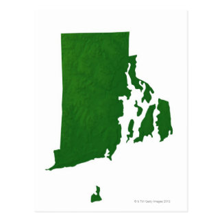 Map of Rhode Island 2 Postcard