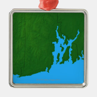 Map of Rhode Island Christmas Ornament