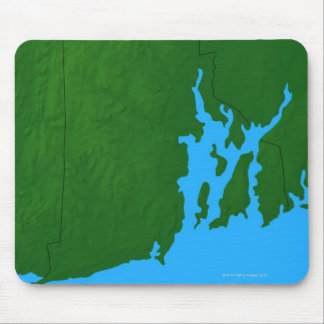 Map of Rhode Island Mouse Mat