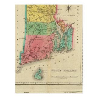 Map Of Rhode Island Postcard