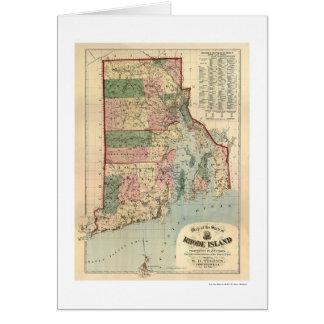 Map of Rhode Island & Providence Plantations 1880 Card