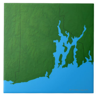 Map of Rhode Island Large Square Tile