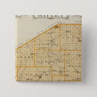 Map of Ripley County 15 Cm Square Badge