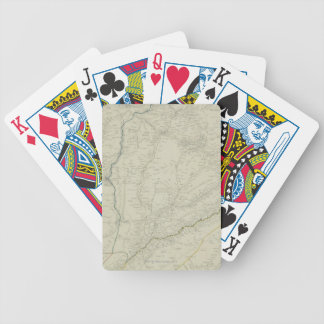 Map of River Systems Bicycle Playing Cards