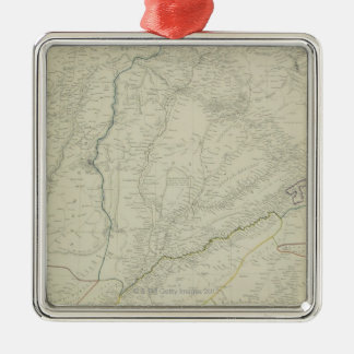 Map of River Systems Christmas Ornament