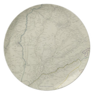 Map of River Systems Dinner Plate