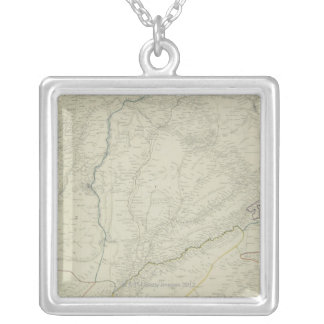 Map of River Systems Silver Plated Necklace