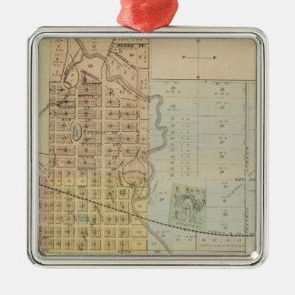 Map of Rochester, Minnesota Christmas Ornament