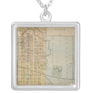 Map of Rochester, Minnesota Silver Plated Necklace